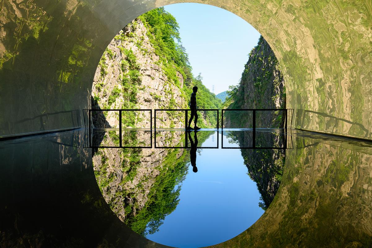 清津峽溪古隧道
