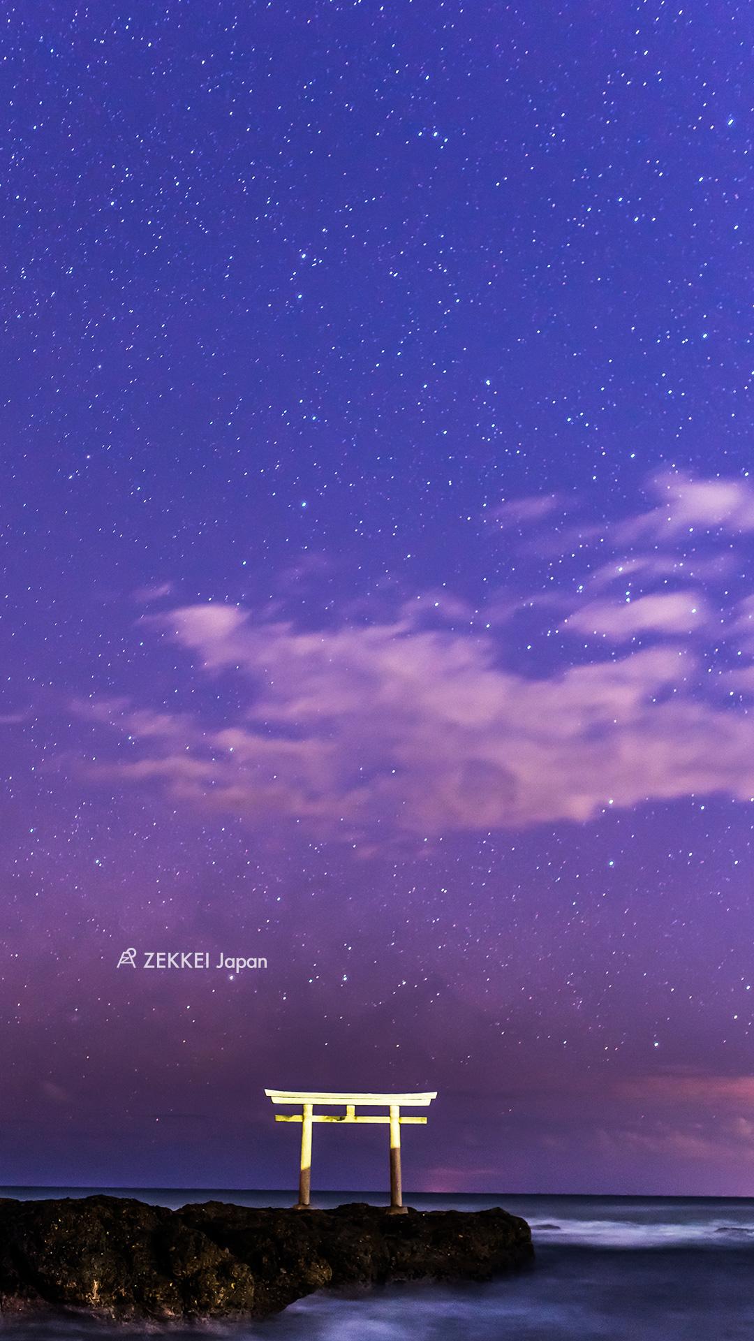 絶景壁紙>綺麗な冬の星空の絶景壁紙をあなたの待ち受けに