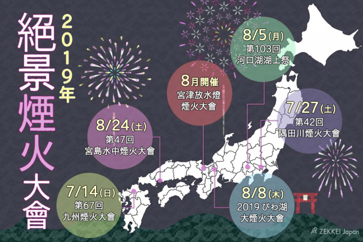 日本煙火大會地圖