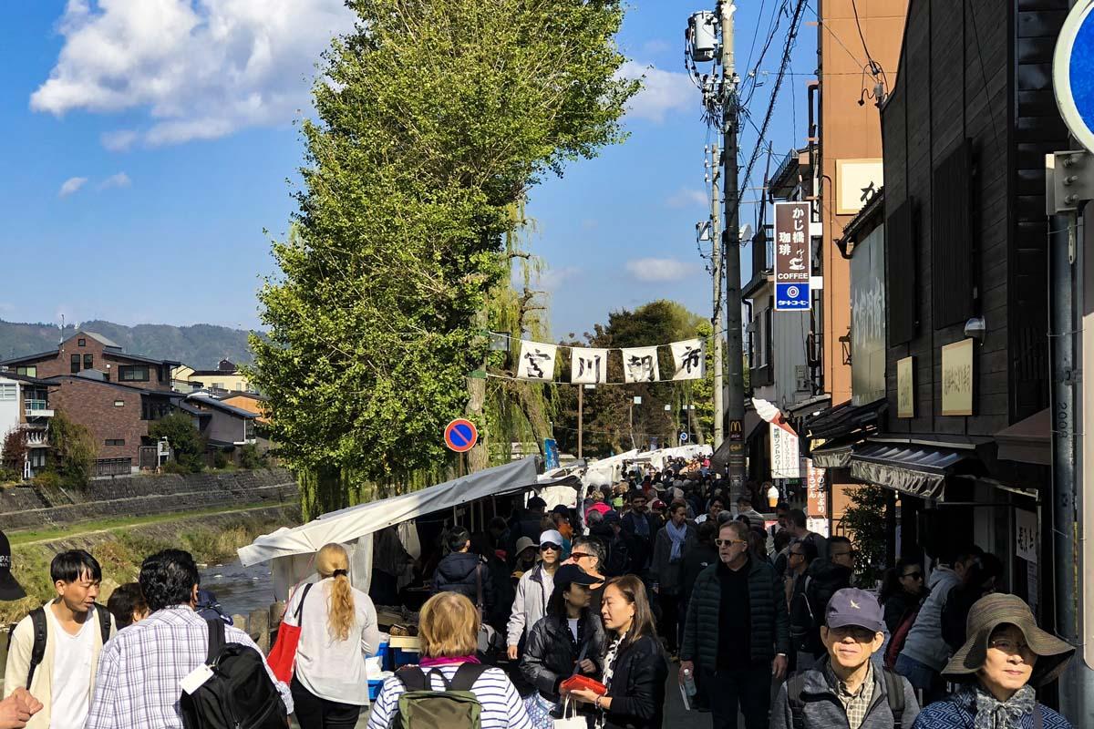 Hida Takayama,Pasar Pagi Miyagawa