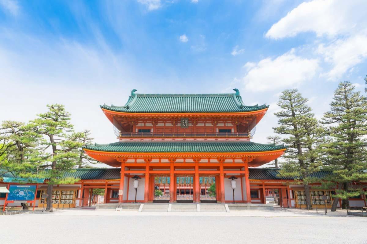 平安神宮 櫻花、橘子、桃子御守