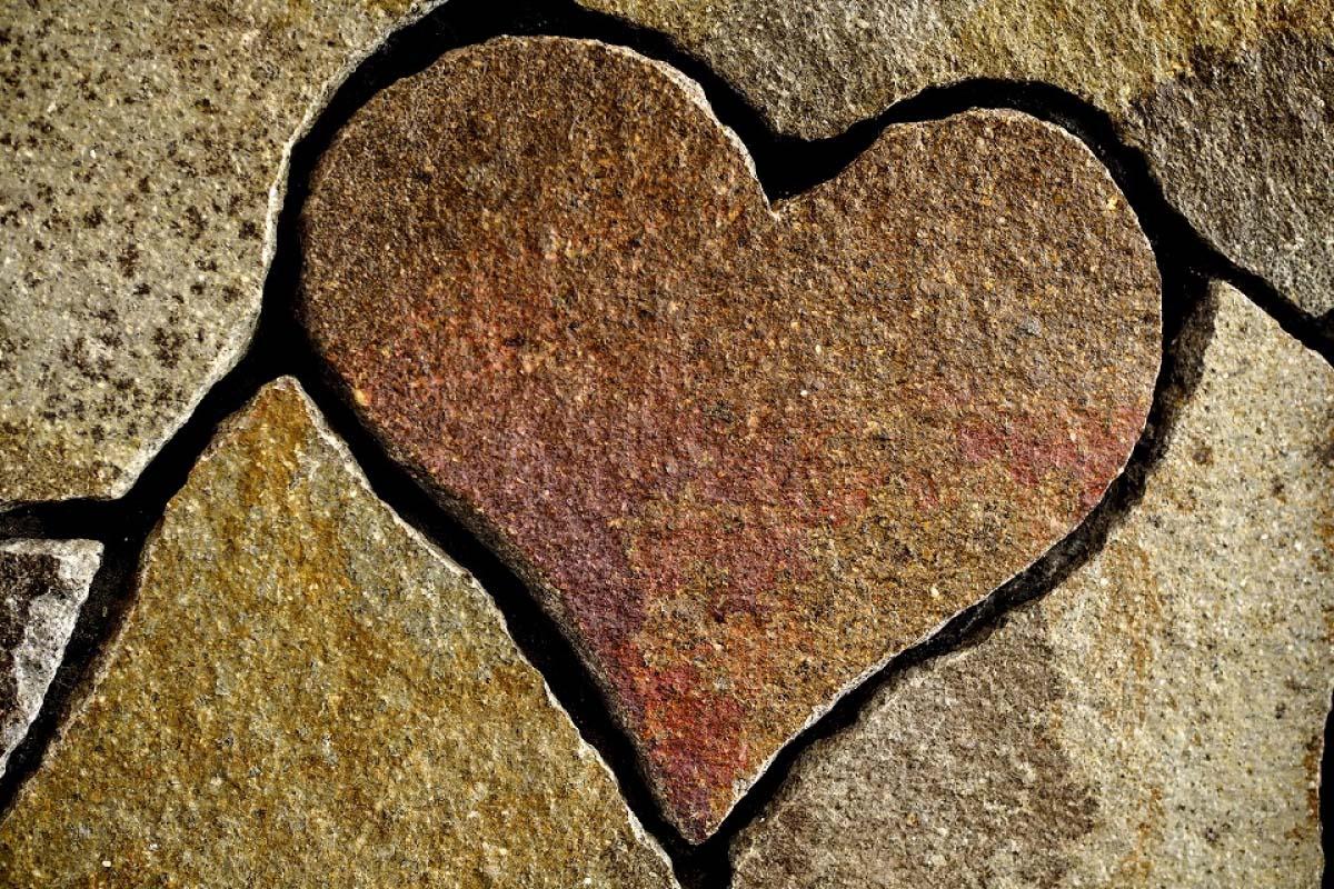 內宮托福參道 愛心石