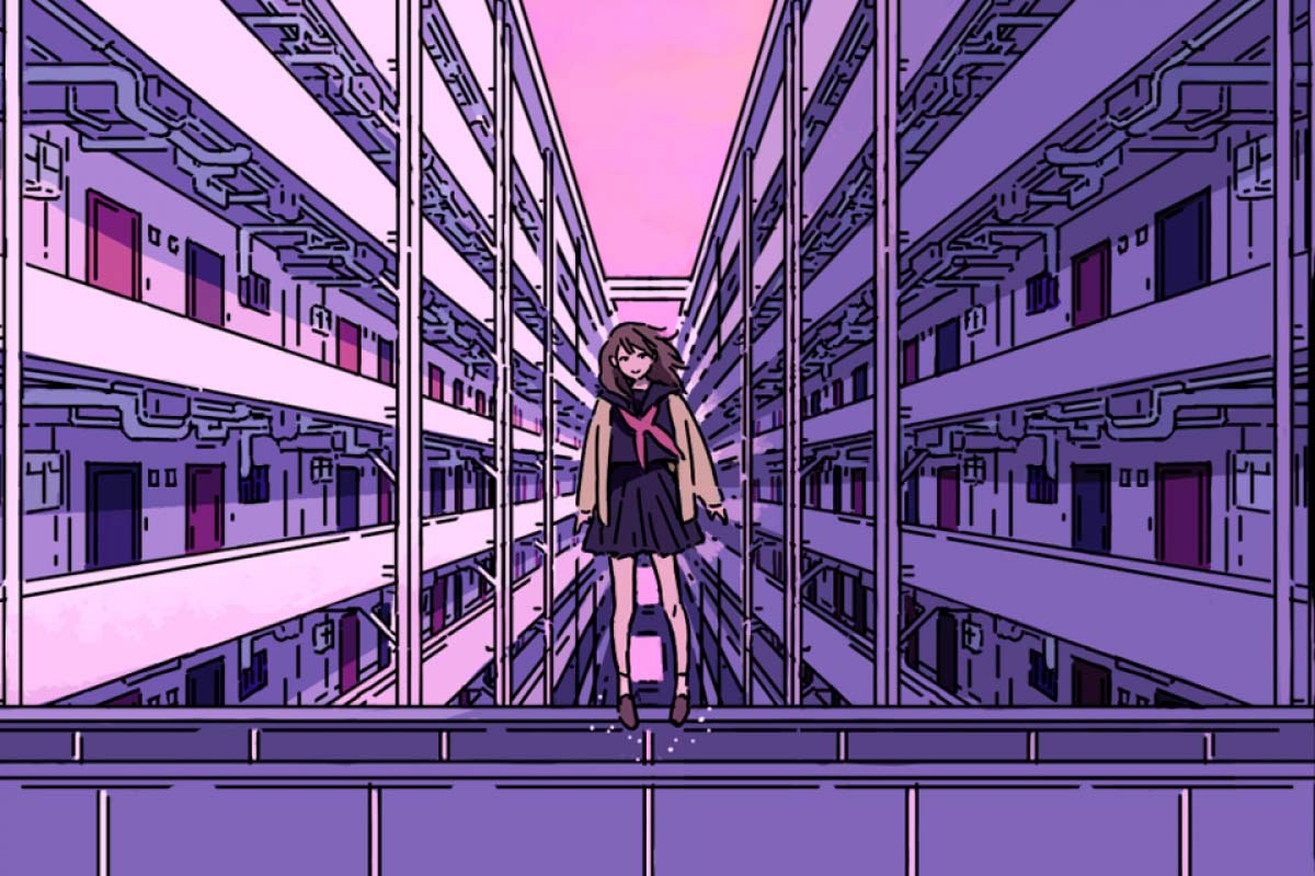 To peep strange occurrences in the giantic housing complex in Japan