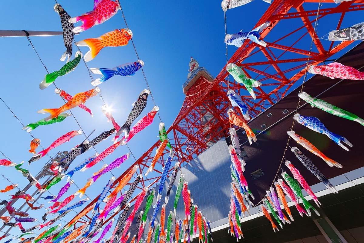 東京タワー333匹の「鯉のぼり」