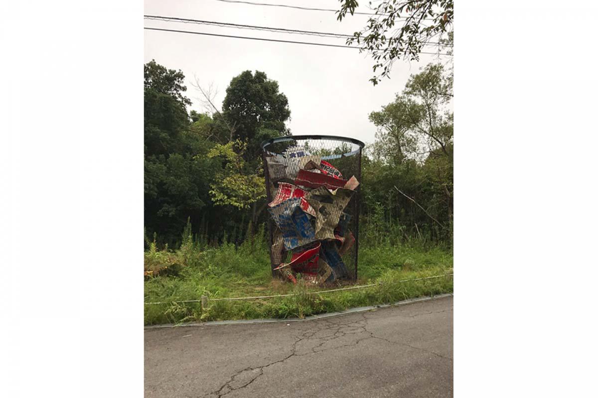 直島 大型垃圾桶