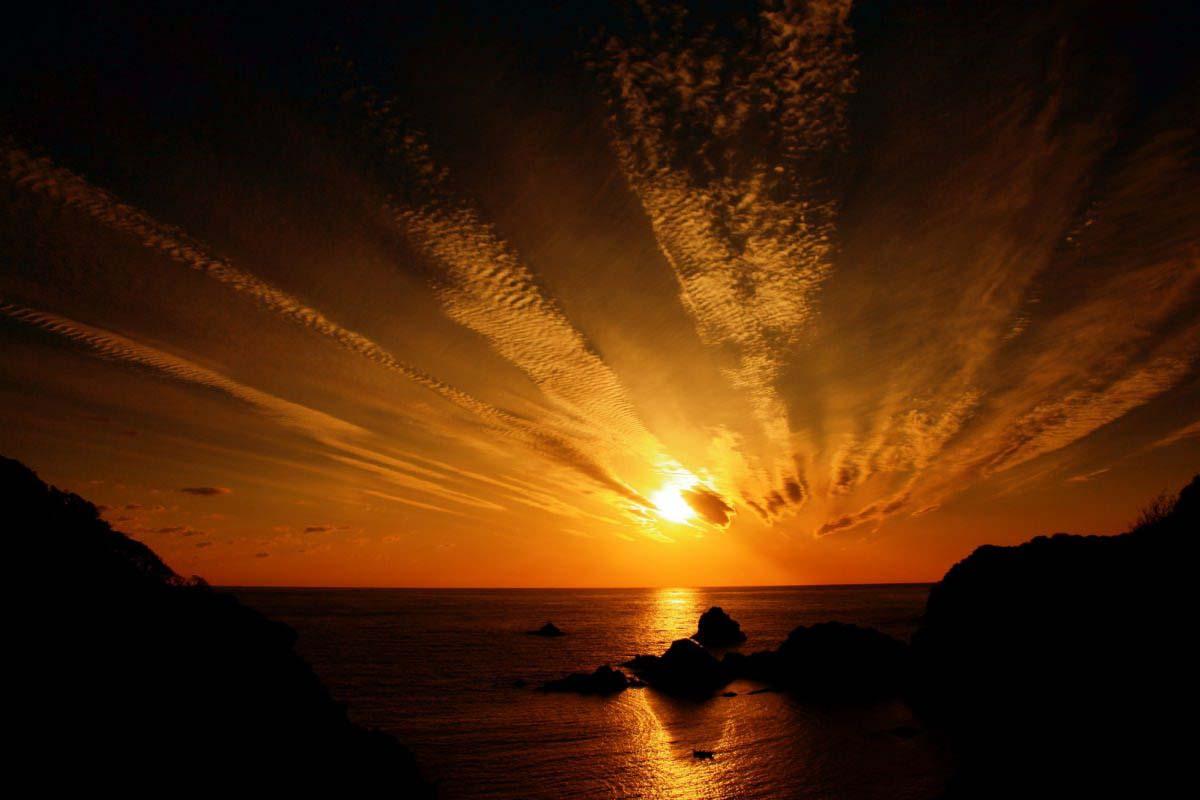 海岸边的夕阳之景 美得令人窒息!<台湾留学生的日本游记②>