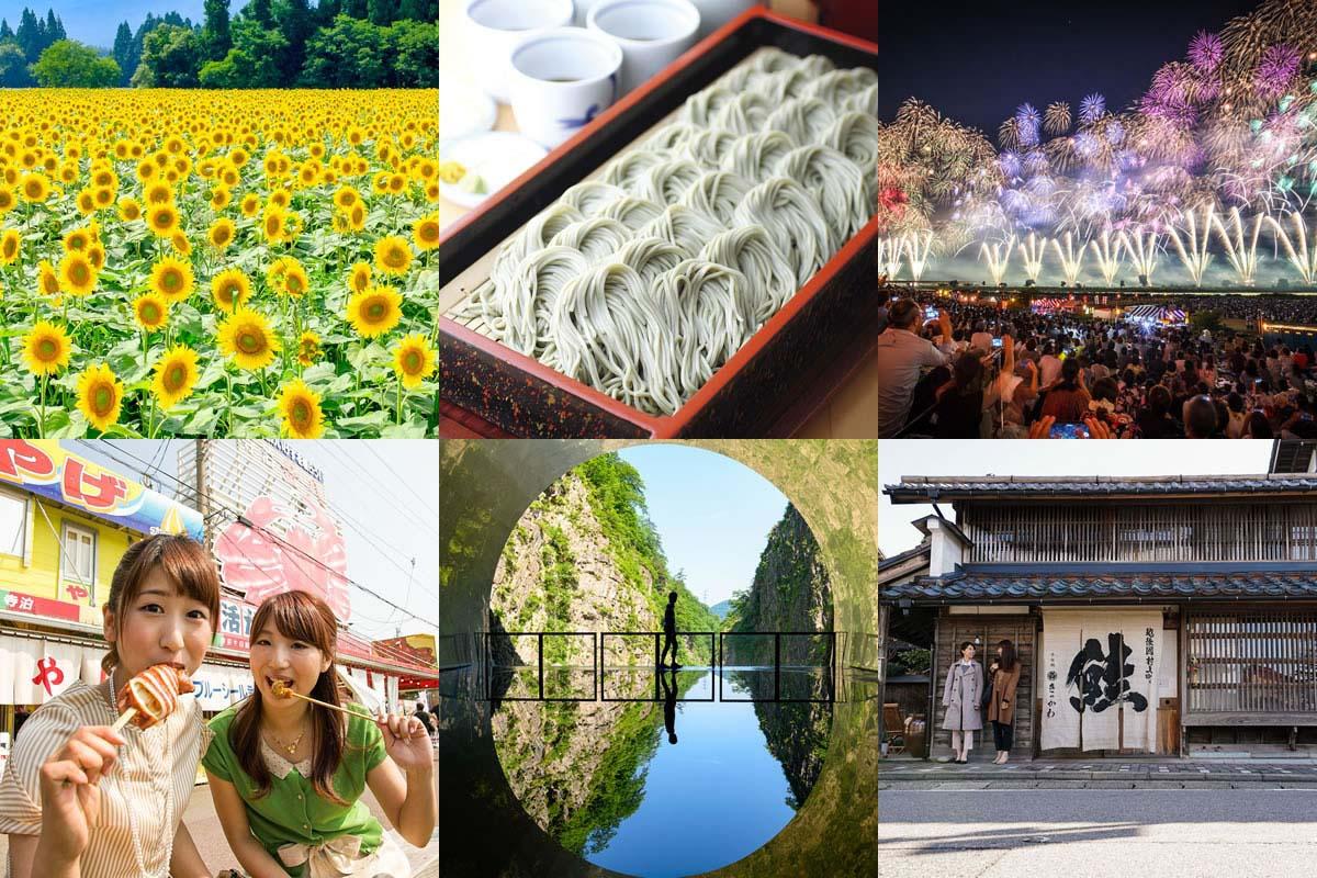 Enjoy local gourmets and superb views in Niigata!