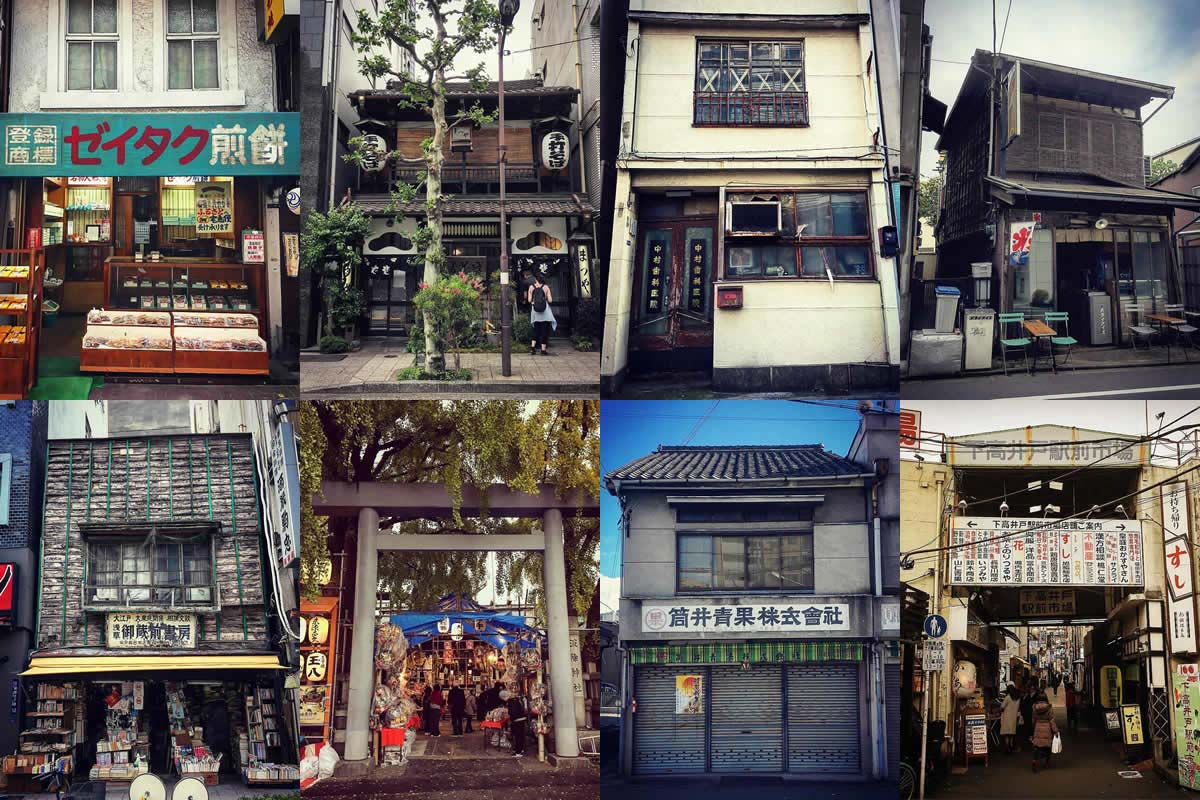Buildings of the downtown, reminiscences of Showa period