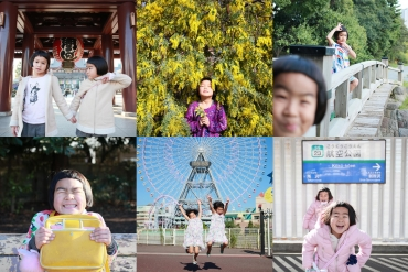 Photos taken daily lives of happy sisters are too cute!