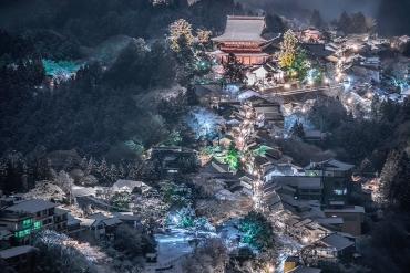 不只有櫻花!「吉野山雪景」夢幻美照在日本推特引爆話題