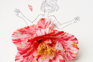 Reconfirming the beauty of flowers with beautiful flower dresses