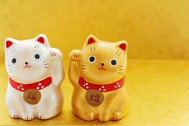 Buy a manekineko (a beckoning cat) for your fortunes
