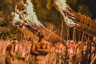 Lễ hội lửa lớn Oniyo! Đầy khí chất hùng dũng