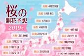 【速報】2019年 桜の開花予想|日本全国の桜スポット24選もお届け!