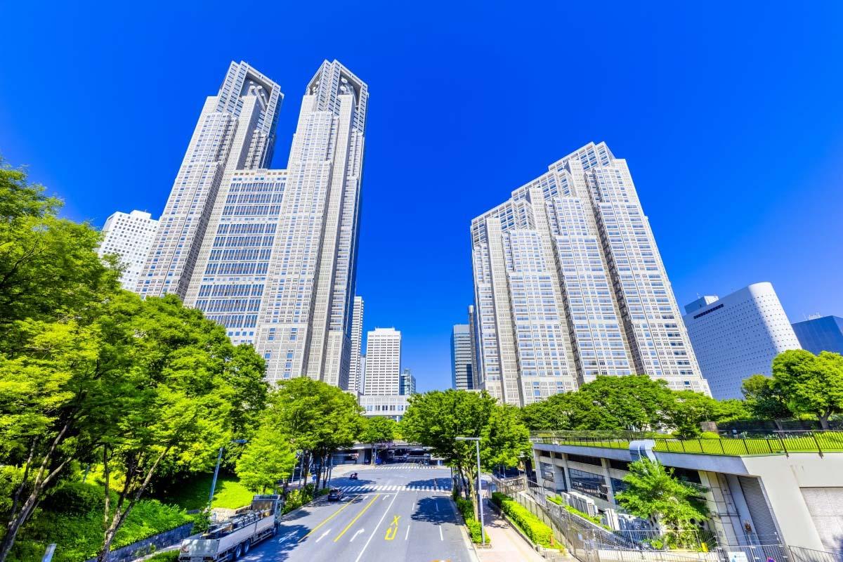 Kết quả hình ảnh cho Tòa Nhà hành chính Tokyo MÙA LÁ ĐỎ