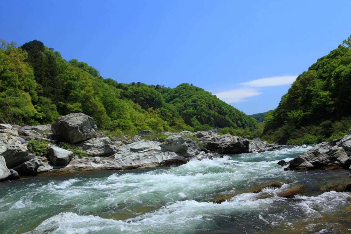 长瀞溪谷漂流