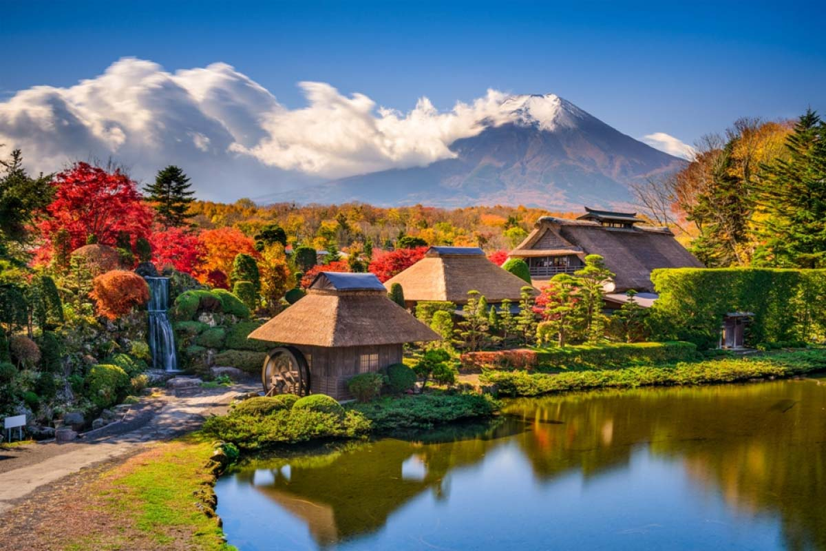 Kết quả hình ảnh cho làng cổ Oshino Hakkai