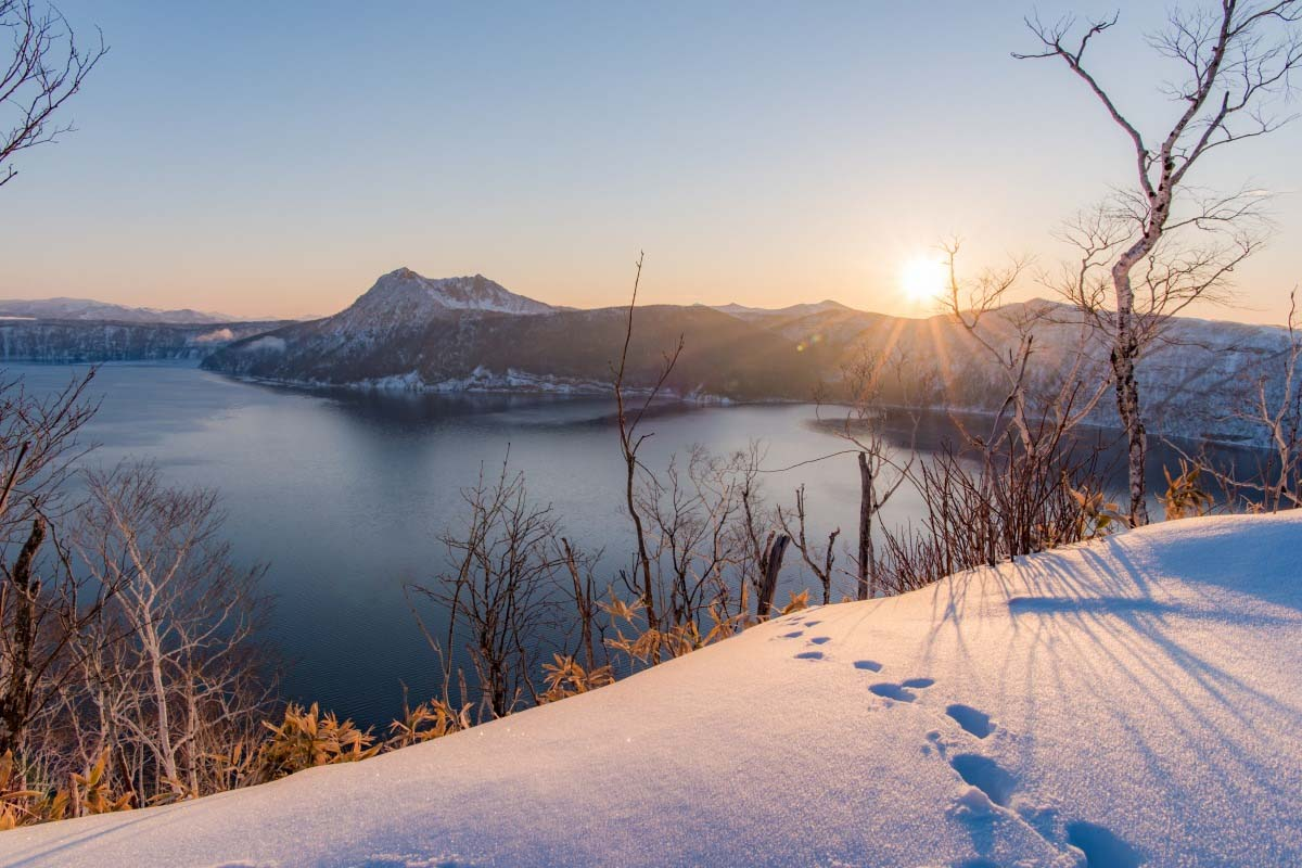 Cột sáng mặt trời hồ Mashu