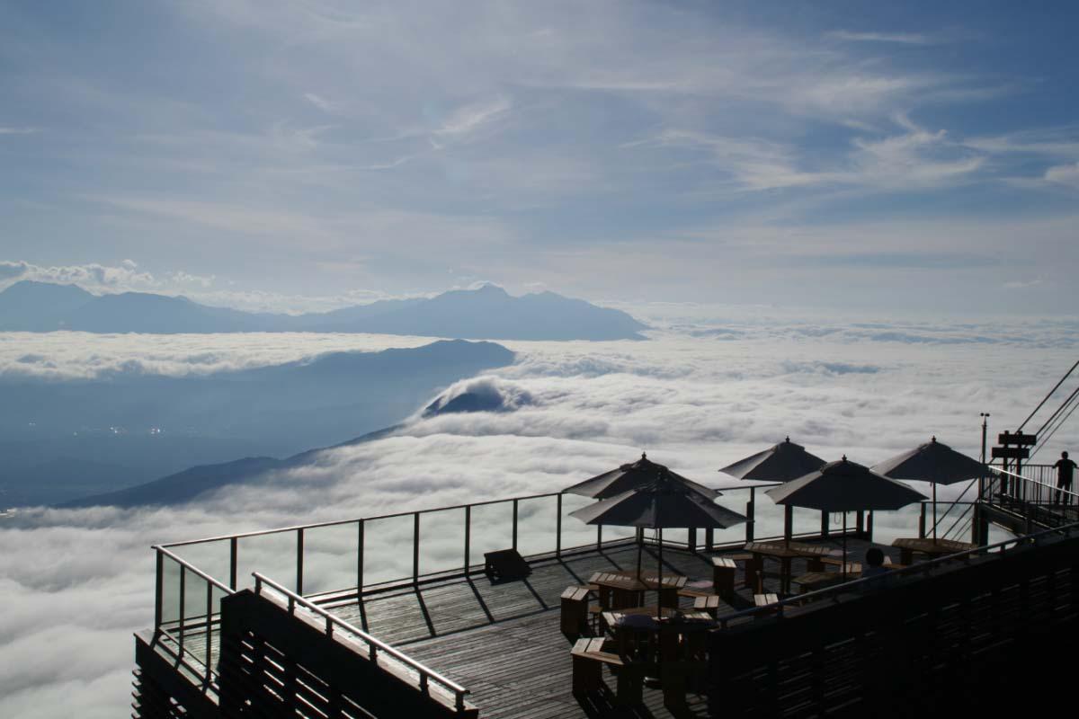 龙王滑雪公园的云海