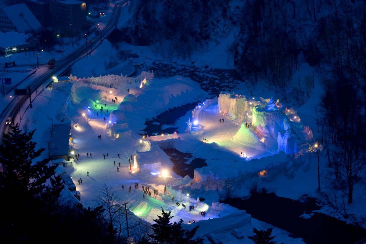 「層雲峽冰瀑慶典」的圖片搜尋結果