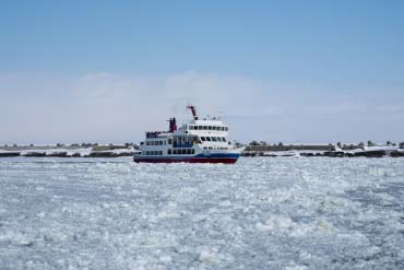 Ice floe in Abashiri City