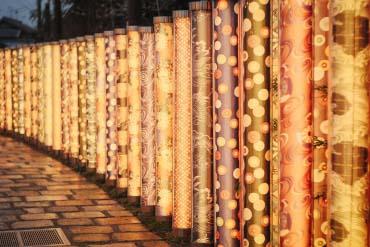 嵐電嵐山站 友禪的光林(京都)