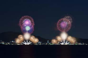 Biwako Fireworks Festival(Shiga & Lake Biwa )