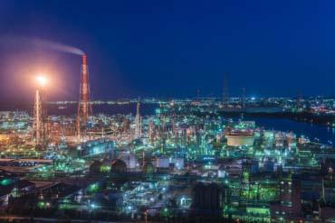 四日市聯合企業工廠夜景(三重・伊勢志摩)