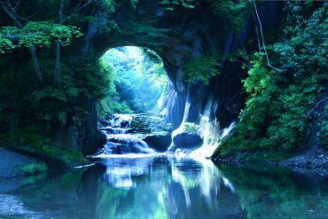 清水渓流広場(濃溝の滝・亀岩の洞窟)(千葉)