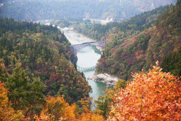Tadami River first iron bridge(Fukushima)