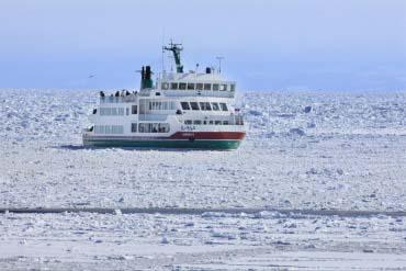 Ice floe in Abashiri City