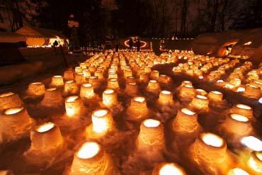 Con đường đèn tuyết Jozankei Onsen
