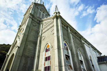 Kawaura Sakitsu Catholic Church and the Sea(Kumamoto)
