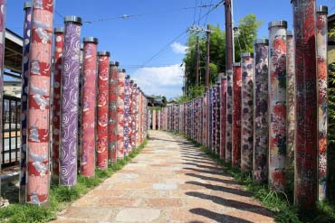 Rừng Kimono ở ga Arashiyama