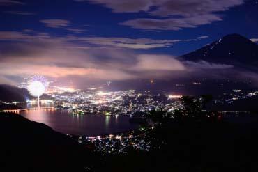 河口湖烟火大会(富士山)