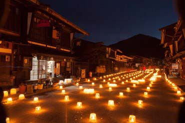 奈良井宿冰烛节