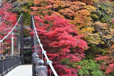 Kurenai no Tsuribashi Suspension Bridge, Nasu-Shiobara