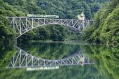 Tadami River first iron bridge